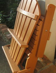 NEW Phat Tommy Recycled Poly Resin Folding Adirondack Chair Tan Model 701 LOCAL