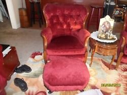 Beautiful antique matching pair of  wing back chairsecellent condition