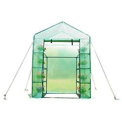 Commercial Portable Greenhouse Walk In New Polytunnel Steel Frame Garden Cover