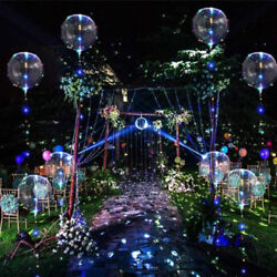 5Pcs LED Light Balloons For Valentines Christmas Wedding Celebration Event Party $9.99