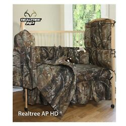 REALTREE CAMO INFANT CRIB BEDDING SET - 7 PCS!! -CAMOUFLAGE BABY INFANT  NEW