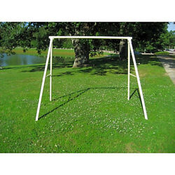 Lawn Swing Frame White Steel Tube A Shaped Frame Patio Garden Outdoor Furniture
