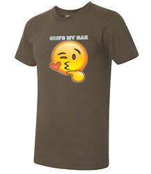 She's my bea American Apparel Heart Kiss Glittery Emoji AA T-shirt - 1454C