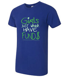 Girls Want FUNDS American Apparel Funny Girl Puns AA T-shirt - 1202C