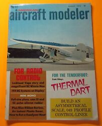 AMERICAN AIRCRAFT MODELER MAGAZINE AUG 1970...1970 RC SYSTEMS ON DISPLAY $4.50