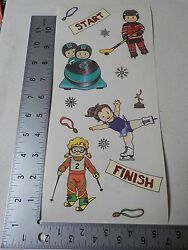 THE NEW KIDS ON THE BLOCK WINTER SPORTS KIDS STICKERS SCRAPBOOKING NEW A3451 $0.99