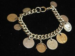 Antique Silver Coin Bracelet Some Rare Coins Robert Pringle Chester 1880 41.3g