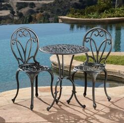 Patio Bistro Sets Outdoor Dining Sets Deck Furniture 3 Piece Table and Chairs