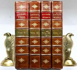 Scarce 1777 The Works Of JOHN LOCKE Philosophy Science LG. Bindings 12