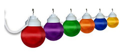 Patio String Lights Outdoor Hanging Globe Party Deck RV Weather Resistant Cord 6
