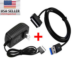 AC Charger + USB Data Sync Cable For ASUS Transformer PAD TF101 TF201 TF300T700