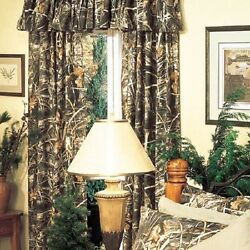 REALTREE MAX 4 CAMOUFLAGE WINDOW CURTAINS - DRAPES CAMO CABIN
