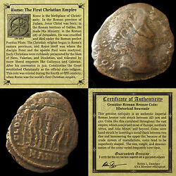 First Christian Empire ROMAN BRONZE COIN Genuine Ancient Antique from 306 410 AD $9.99