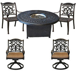 Round Propane Fire Pit Elizabeth Table 52