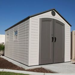 Lifetime 8' x 15' Storage Shed With Slip Resistant Floor And Skylights Beige