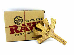 Raw 5 Level Wooden Cigarette Holder Limited Edition Authentic Wholesale Gift Box