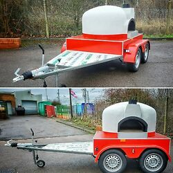 New design - Side oven entrance  MOBILE WOOD FIRED PIZZA OVEN * FORNO TRAILER