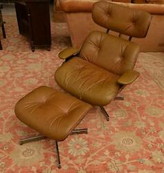 Selig Eames style lounge chair and ottoman Lot 1463
