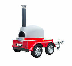 MOBILE GAS  WOOD FIRED PIZZA OVEN * PIZZA TRAILER CATERING  FORNO LPG *+VAT *