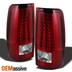 Fits 03-06 Silverado 04-06 GMC Sierra Truck Red Clear LED Tail Lights Left+Right $88.99