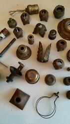 BIG LOT OF VINTAGE LAMP PARTS AND PIECES $59.95