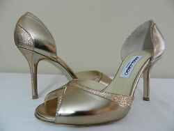 Jimmy Choo Gold Define Mirror Leather d'Orsay Pumps 39 US 9  $750