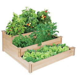 Raised Garden Bed Gardening Vegetable  Kit Greenhouse Cedar Elevated Home New