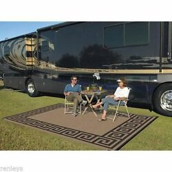Rv Camping Mats Patio Awning Outdoor Rugs Large 9 x 12 Reversible Beach Garden