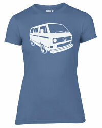 Womens Dubstar Peace Campervan Bus T25 T3 VANAGON Kombi T-shirt NEW S-XXL $13.70