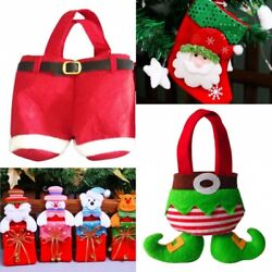 Santa Claus Christmas Kids Candy Gift Stroage Bag Xmas Party Tree Decoration C $3.88