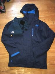 The North Face Mens Thermoball Snow Triclimate Jacket Navy Med What