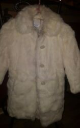 Vintage Neiman Marcus kids real Coney Fur Coat Gloves and hat