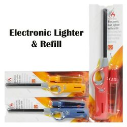 Electronic Gas Lighter amp; Refill Ovens Cookers Stoves Barbecues Nozzle Safety Kit GBP 2.25