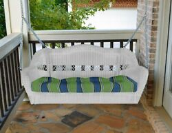 Outdoor Furniture Wicker Rattan Porch Swing With Or Without Cushion Dark Roast