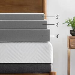 LUCID 2 3 4 Inch Bamboo Charcoal Memory Foam Mattress Topper - Twin Full Queen $44.99