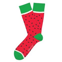 Watermelon Fun Novelty Socks Small Medium Feet Size Dress SOX Whata Melon Casual $9.99