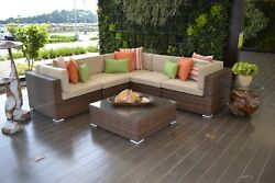 Plastic Rattan Sectional Outdoor Corner - JATI FURNITURE - PVC - Resin Patio