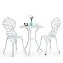 Leaves 3Pcs Bistro Patio Set Better Homes And Gardens Table Chairs Aluminum F4G5