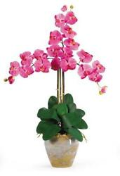 Nearly Natural 1017-DP Triple Phalaenopsis Silk Orchid Flower Arrangement