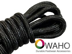 Heavy Duty Black Shoe  Boot Laces made with Black Dupont™ Kevlar®  $6.99