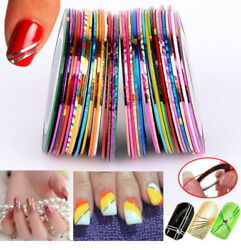 15Pcs Mixed Colors Rolls Striping Tape Line DIY Nail Art Tips Decoration Sticker $4.99