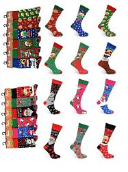 6 12 Pairs Men#x27;s Ladies Festive Christmas Design Novelty Socks Women#x27;s Xmas sock GBP 11.99