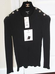 NWT Auth CHANEL gorgeous black sweater 2016-90% wool 10% cashmere- FR42- 2.5K