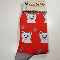 Westie Dog Socks Fun Novelty Dress Casual Unisex West Highland SOX Sock Daddy $11.99