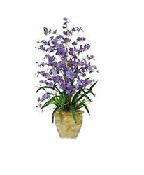 Nearly Natural 1070-PP Triple Dancing Lady Silk Flower Arrangement Purple
