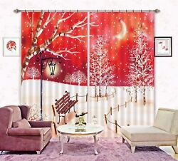 3D Red Stars Sky Park 5 Blockout Photo Curtain Curtains Drapes Fabric Window CA C $519.99