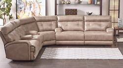 Reclining Power Sectional Sofa Recliner Wedge Console Living Room Furniture New