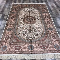 YILONG 5'x8' Handknotted Persian Silk Carpet Oriental Home Indoor Rug WY335A
