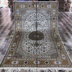 YILONG 5'x8' Antique Hand Made Persian Silk Rug Dining Room Indoor Carpet WY336A