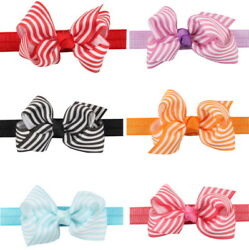 6 Pcs Cute Girl Baby Toddler Infant Flower Headband Hair Bow Band Accessories $6.99